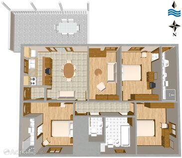 Sumartin, Plan in the apartment.