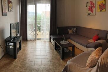 Mastrinka, Living room in the house, air condition available and WiFi.