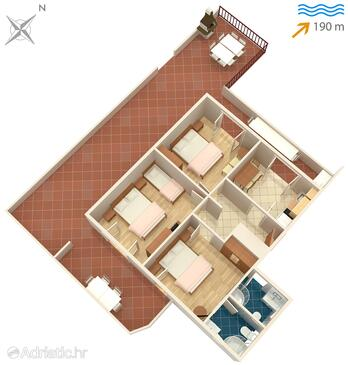 Slatine, Plan in the apartment, (pet friendly) and WiFi.