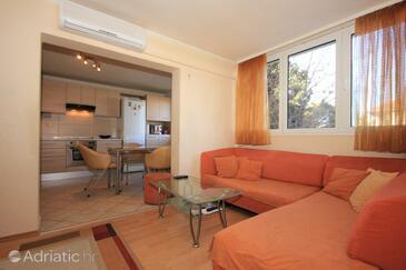 Split, Living room in the apartment, dostupna klima i dopusteni kucni ljubimci.