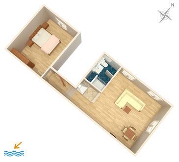 Split, Plan kwatery w zakwaterowaniu typu apartment, WIFI.