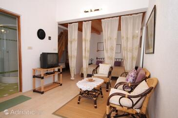 Štinjan, Obývací pokoj v ubytování typu apartment, WIFI.