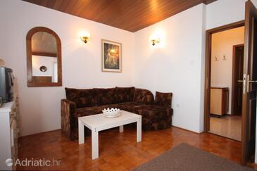 Ravni, Living room in the apartment, dostupna klima i dopusteni kucni ljubimci.