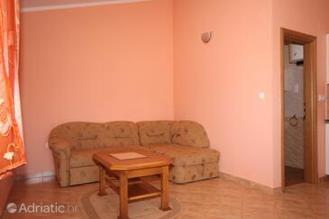 Ližnjan, Dnevna soba v nastanitvi vrste apartment, dostopna klima, Hišni ljubljenčki dovoljeni in WiFi.
