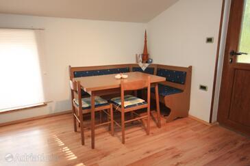 Sveti Martin, Jídelna v ubytování typu studio-apartment, WiFi.
