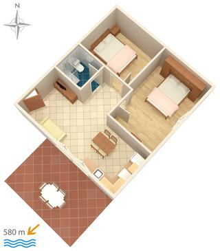 Novigrad, Plan in the apartment.