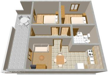 Sumartin, Plan in the apartment.
