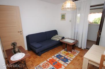 Rovinj, Living room in the apartment, dopusteni kucni ljubimci i WIFI.