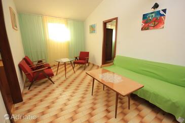 Pješčana Uvala, Living room in the apartment.
