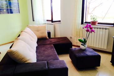 Vinkuran, Obývací pokoj v ubytování typu apartment, s klimatizací, domácí mazlíčci povoleni a WiFi.