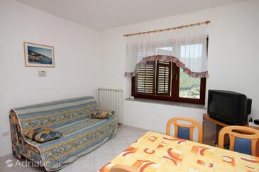 Rabac, Living room in the apartment, dostupna klima, dopusteni kucni ljubimci i WIFI.