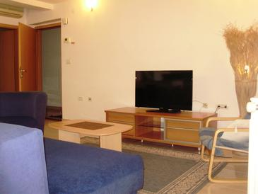 Pula, Obývací pokoj v ubytování typu apartment, dostupna klima i WIFI.
