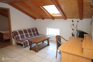 Mošćenička Draga, Living room in the apartment, dostupna klima i WIFI.