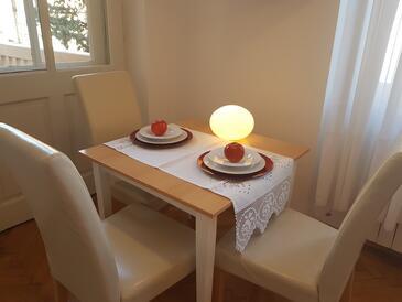 Opatija, Jedáleň v ubytovacej jednotke studio-apartment, dopusteni kucni ljubimci i WIFI.