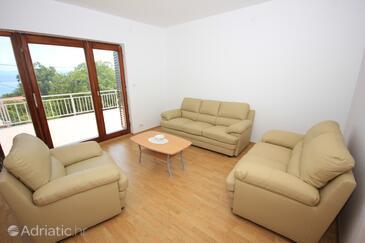 Oprič, Obývací pokoj v ubytování typu house, s klimatizací, domácí mazlíčci povoleni a WiFi.
