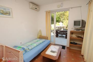 Mošćenička Draga, Living room in the apartment, dostupna klima, dopusteni kucni ljubimci i WIFI.