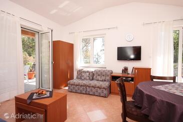 Brseč, Living room 1 in the house, dostupna klima i WIFI.
