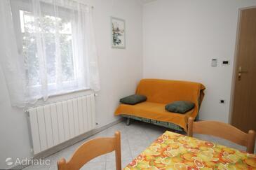 Mošćenička Draga, Living room in the apartment.