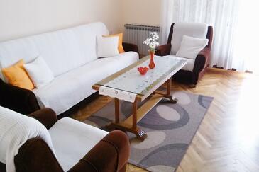 Kaštelir, Living room in the apartment.