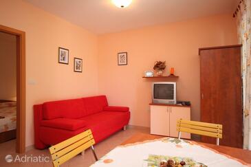 Mošćenička Draga, Living room in the apartment, dopusteni kucni ljubimci i WIFI.