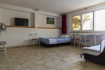 Maslinica, Salon dans l'hébergement en type apartment, WiFi.