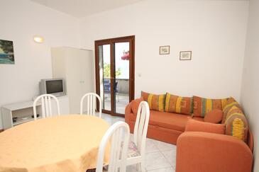 Mošćenička Draga, Obývací pokoj v ubytování typu apartment, WIFI.