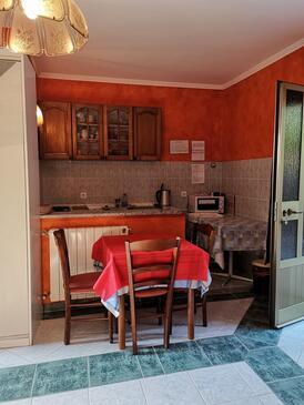 Brseč, Столовая в размещении типа studio-apartment, Домашние животные допускаются и WiFi.