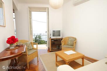 Opatija - Volosko, Living room in the apartment, dostupna klima i dopusteni kucni ljubimci.