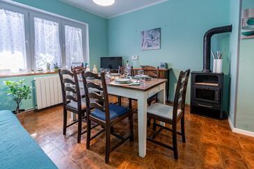 Lovran, Jedáleň v ubytovacej jednotke apartment, WIFI.