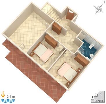 Opatija - Pobri, Pôdorys v ubytovacej jednotke house, dopusteni kucni ljubimci i WIFI.
