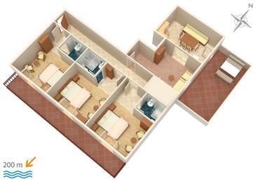 Marušići, Plan kwatery w zakwaterowaniu typu apartment, WIFI.