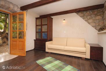 Merag, Гостиная в размещении типа studio-apartment, доступный кондиционер, Домашние животные допускаются и WiFi.