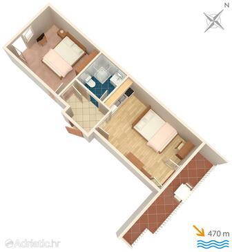 Opatija, План в размещении типа apartment, Домашние животные допускаются и WiFi.