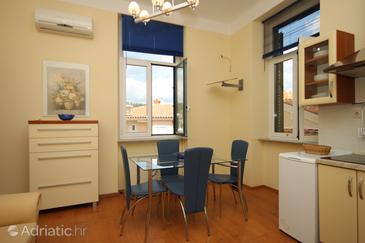 Opatija - Volosko, Dining room in the apartment, dostupna klima, dopusteni kucni ljubimci i WIFI.