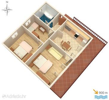 Opatija, Nacrt u smještaju tipa apartment, kućni ljubimci dozvoljeni i WiFi.