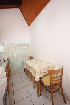 Medveja, Jedáleň v ubytovacej jednotke apartment, domáci miláčikovia povolení.
