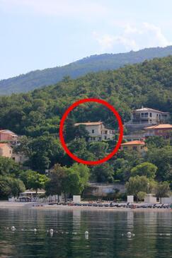 Medveja, Opatija, Objekt 7924 - Ubytovanie blízko mora s kamienkovou plážou.