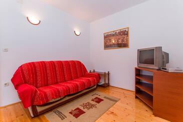 Smolići, Pokój dzienny w zakwaterowaniu typu apartment, Dostępna klimatyzacja i WiFi.