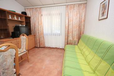 Artatore, Obývacia izba v ubytovacej jednotke apartment, dostupna klima i dopusteni kucni ljubimci.