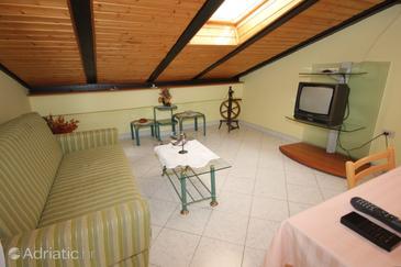Mali Lošinj, Living room in the apartment, WIFI.