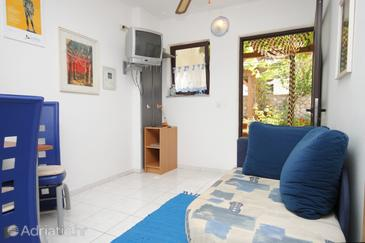 Mali Lošinj, Living room in the apartment, dopusteni kucni ljubimci i WIFI.