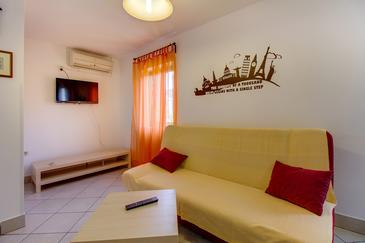 Veli Lošinj, Living room in the apartment, air condition available, (pet friendly) and WiFi.
