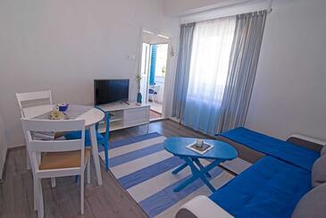 Veli Lošinj, Jedáleň v ubytovacej jednotke apartment, dostupna klima i WIFI.