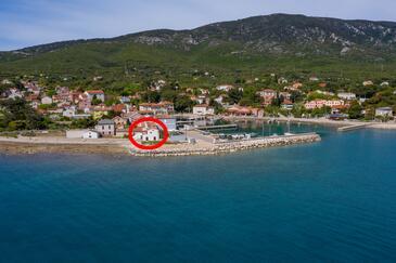 Nerezine, Lošinj, Objekt 7963 - Ubytování v blízkosti moře s kamenitou pláží.