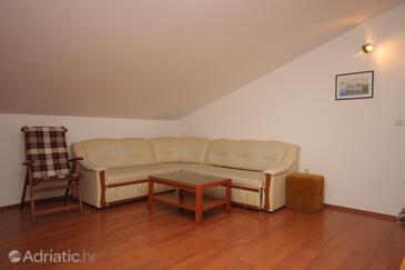 Mali Lošinj, Obývací pokoj v ubytování typu apartment, domácí mazlíčci povoleni a WiFi.