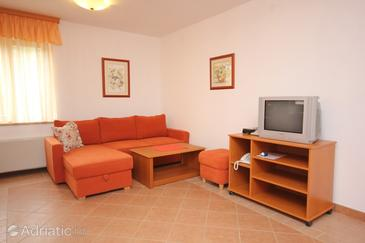Cres, Living room in the apartment, dostupna klima i WIFI.