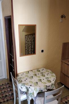 Mali Lošinj, Jídelna v ubytování typu apartment, domácí mazlíčci povoleni a WiFi.