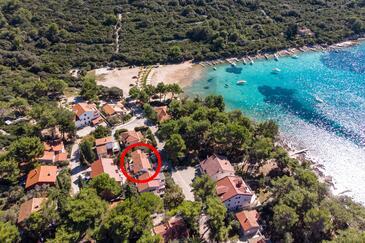 Artatore, Lošinj, Objekt 8008 - Ubytování v blízkosti moře s kamenitou pláží.
