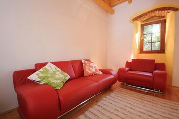 Mali Lošinj, Obývacia izba v ubytovacej jednotke house, klimatizácia k dispozícii a WiFi.