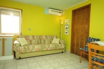 Veli Lošinj, Obývací pokoj v ubytování typu apartment, dostupna klima, dopusteni kucni ljubimci i WIFI.